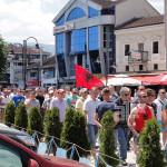 ФОТО: Протестите во Струга без инциденти