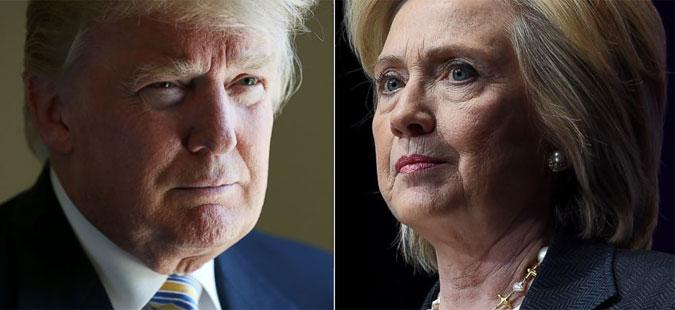 Трамп  Хилари ги намести изборите во Демократската партија