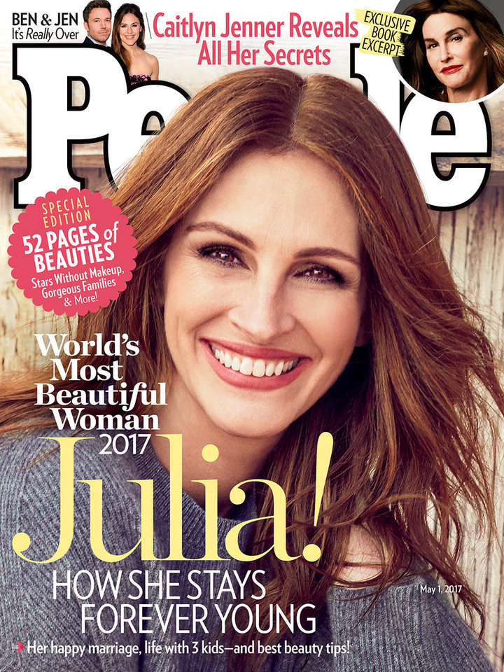 Пипл  по 5  пат ја прогласи Џулија Робертс за најубава жена на светот