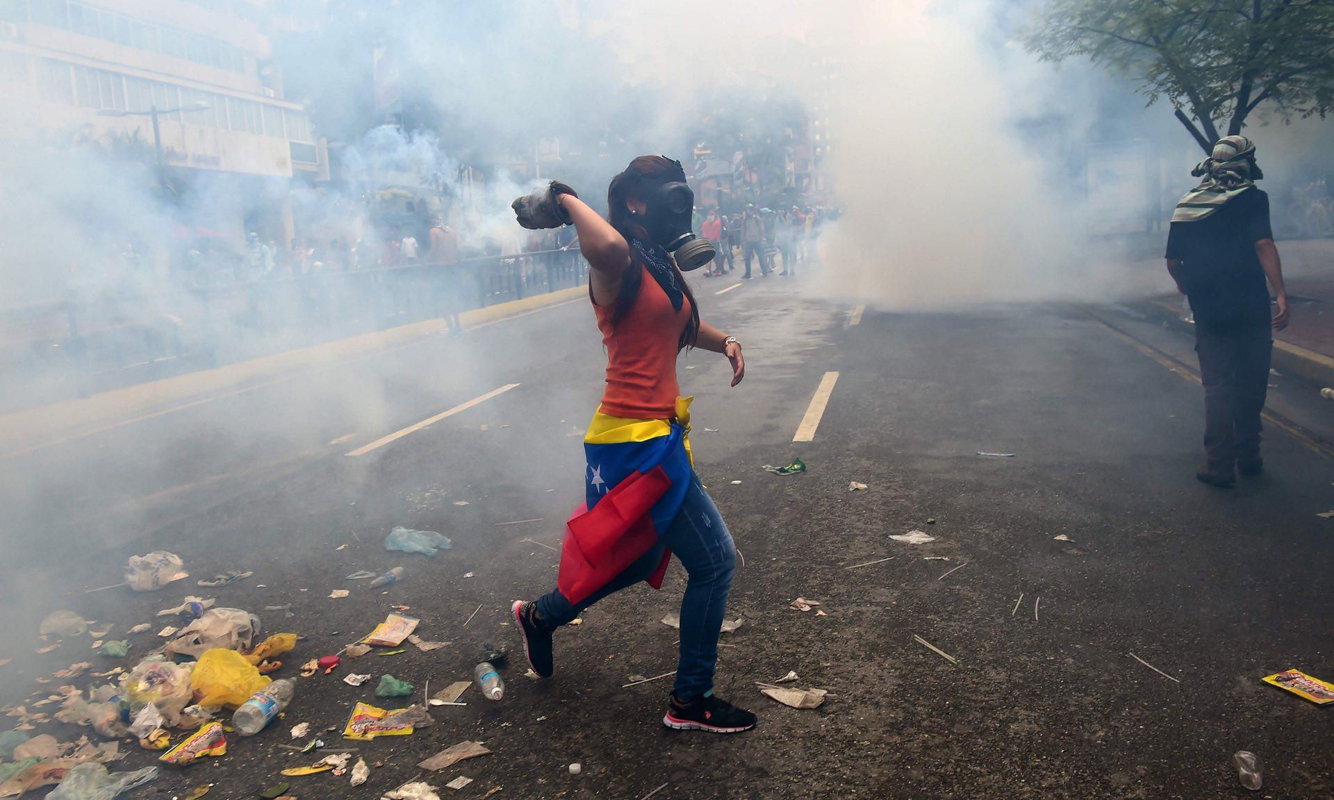 Венецуела  Едно лице е застрелано при синоќешните протести против Мадуро