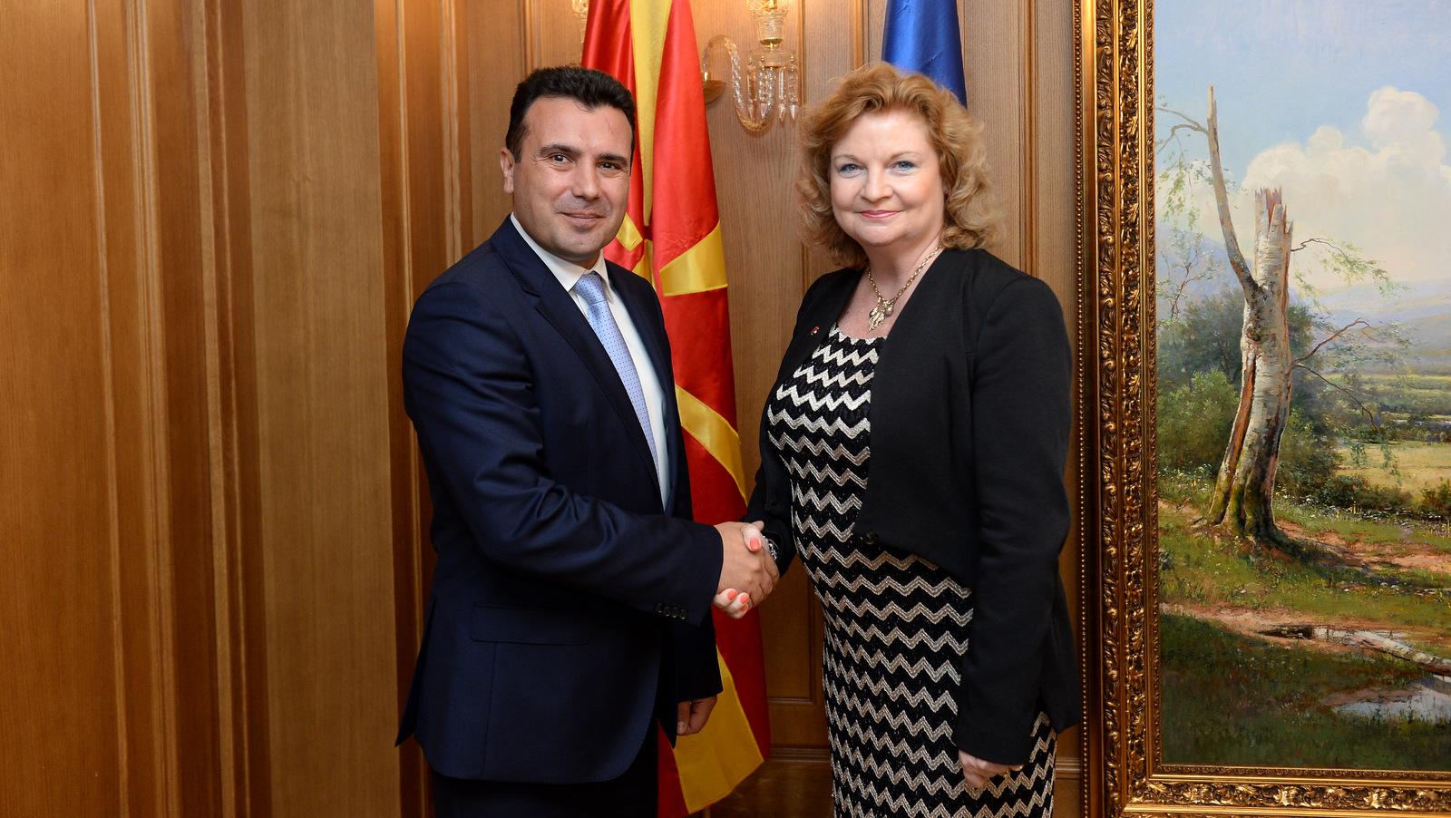 Средба на  Заев со австралиската амбасадорка Фини  Поддршка од Австралија за демократските реформи