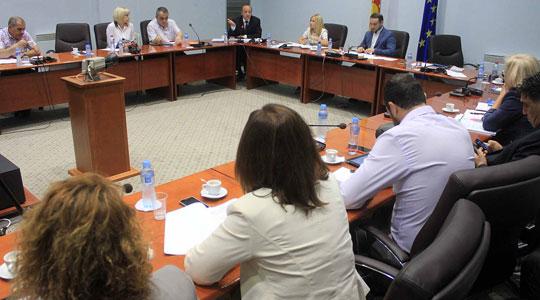 Дебата за законот за јазици во Комисијата за политички систем