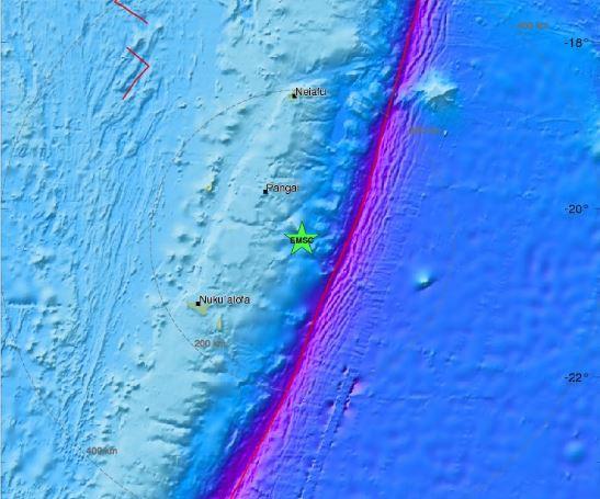 Земјотрес со јачина од 6 1 степени според Рихтер го погоди островот Тонга