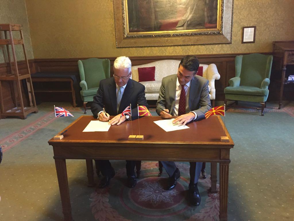 Димитров и Данкан потпишаа заедничка изјава за партнерство помеѓу Македонија и Обединетото Кралство