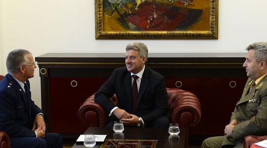 Претседателот Иванов се сретна со командантот на Националната гарда на Вермонт  Стивен Креј