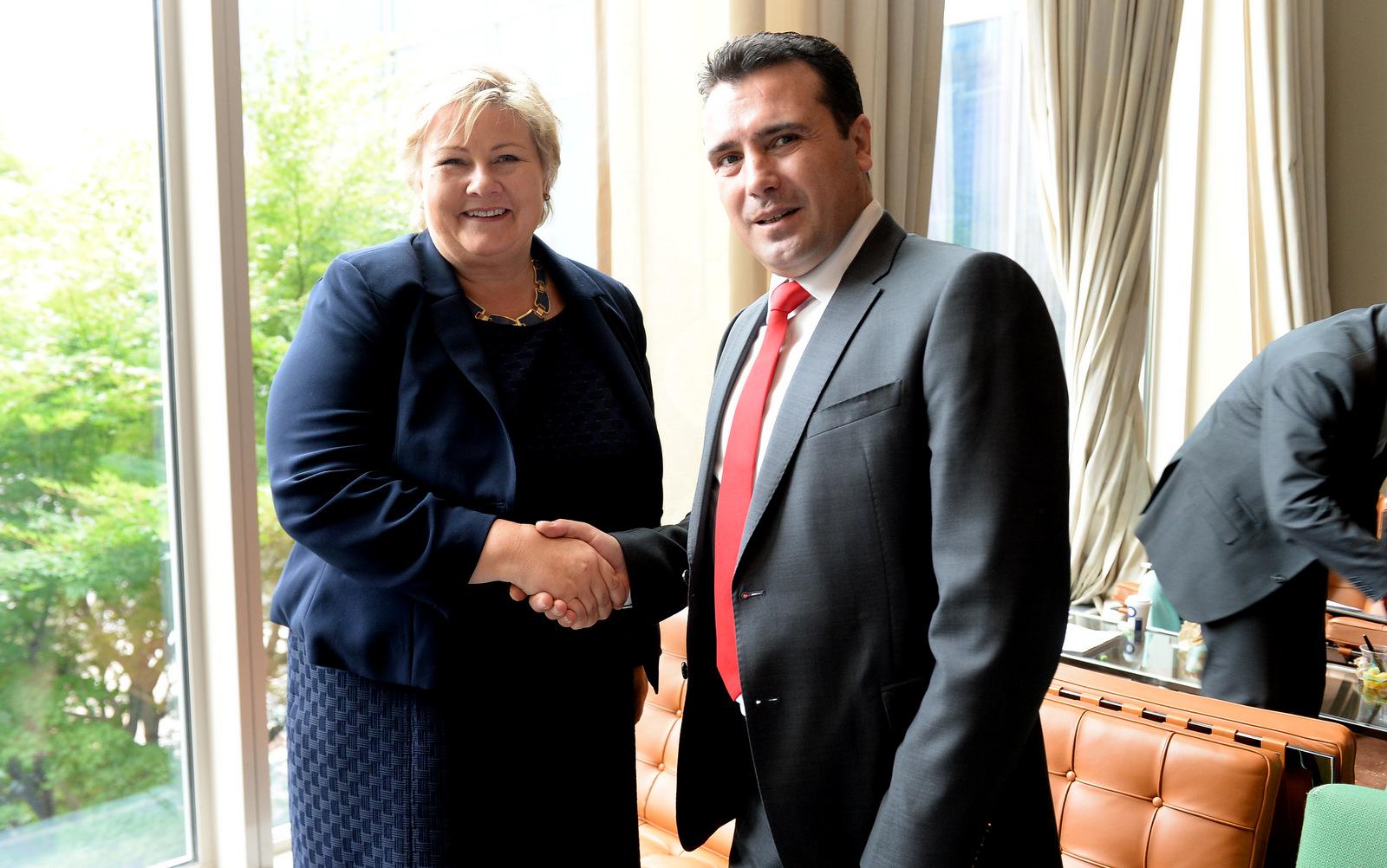 Заев Солберг  Поддршка за интеграциите на Македонија