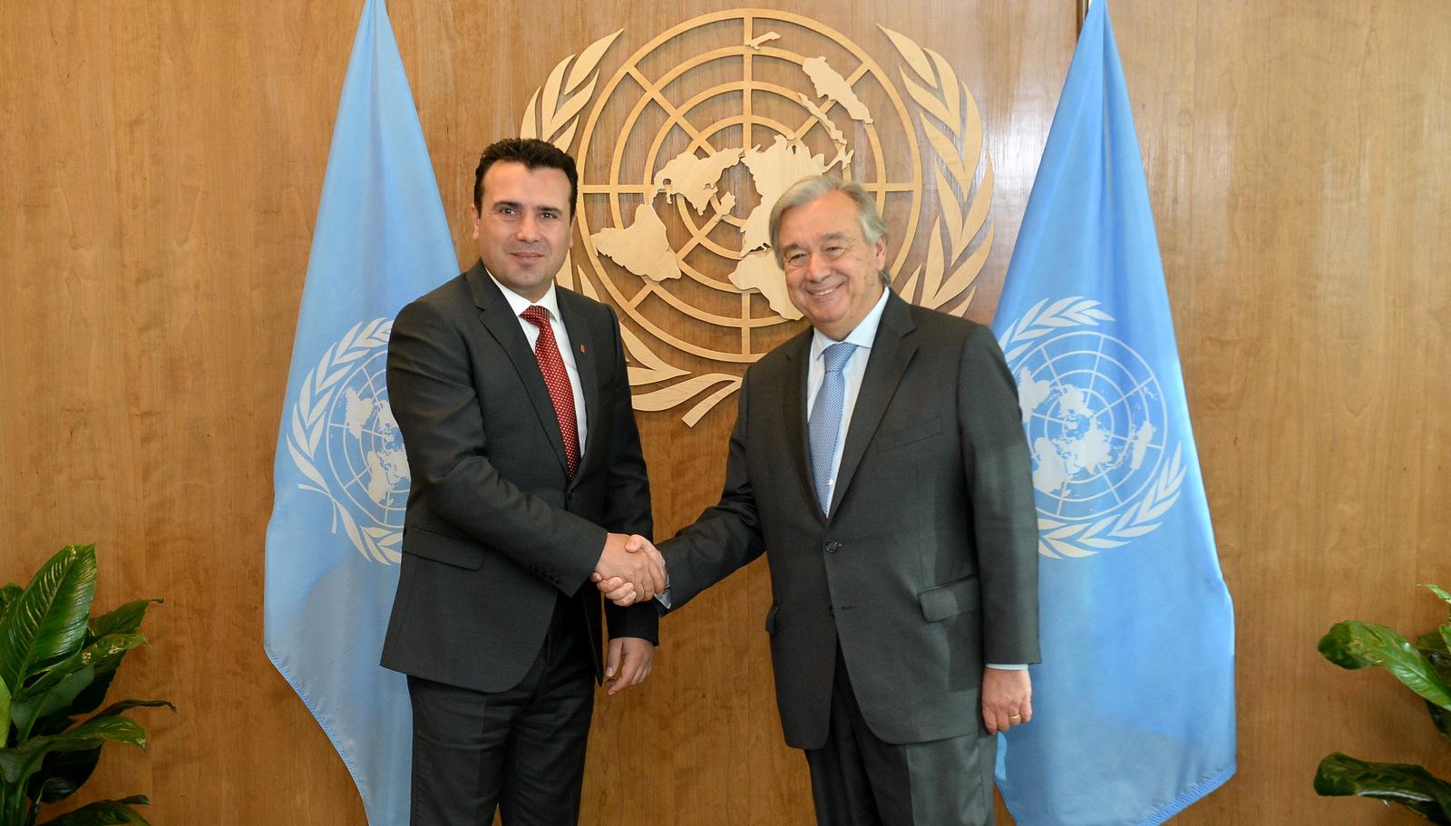 Заев се сретна со Гутереш  Македонија е пример за соживот и фактор на разбирање во регионот