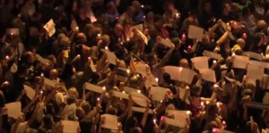 ВО ЖИВО  Илјадници демонстранти на улиците на Барселона поради одлуката за притвор на двајца сепаратистички лидери