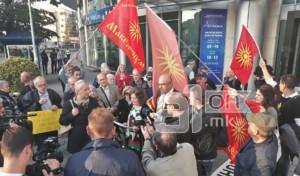 Иванов не ги прими демонстрантите кои бараат одземање на имунитетот на Заев