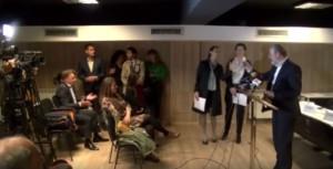 Шилегов упадна на прес конференција на Коце Трајановски