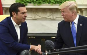 Средба Трамп Ципрас  Грција и САД се одлични и лојални пријатели и сојузници