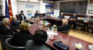 Средба на Шилегов со борците од градскиот одбор на НОАВМ