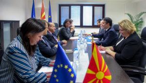 Средба на министерот Димитров со Жан Кристоф Белиард  заменик генерален секретар на Службата за надворешни работи при ЕУ
