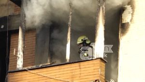 Гори станбена зграда во Тетово  нема повредени