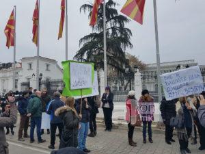 Повеќе новинари од граѓани на денешниот протест против загадувањето