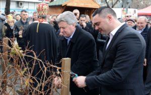 Иванов на одбележување на празникот Св  Трифун во Кавадарци
