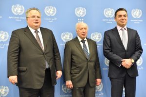 Средба на Димитров и Нимиц со Коѕијас  Напорите за наоѓање на решение за името ќе продолжат под покровителство на ОН