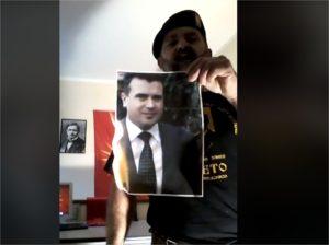 Член на здружението  Ќосето  запали слика од Заев и му се закани
