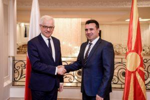 Заев Чапутович  Полска ја поддржува Македонија во евро атлантските интеграции