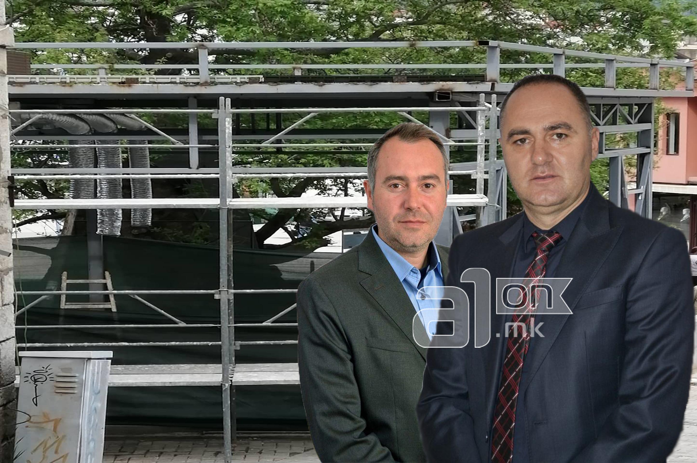Советникот во Општина Охрид, Нефи Усеини и градоначалникот на Охрид, Константин Георгиевски