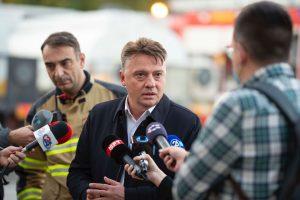 (ВИДЕО) Шилегов: Со брзата реакција на хероите на градот се спречи поголема материјална штета